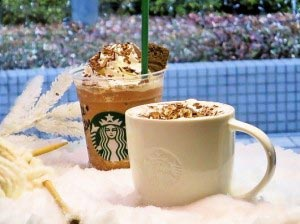 White Winter Starbucks