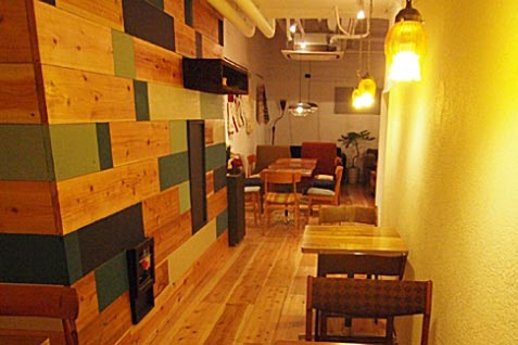 『scopp cafe』の店内