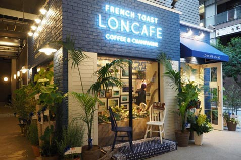 『LONCAFE STAND NAKAMEGURO』の外観