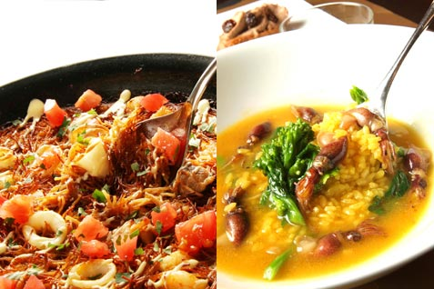 b5f5eca84b4 数名でシェアして食べる、パスタを使った名物のパエリア「フィデウア」など、あらゆるスペイン料理がディナーを盛り上げてくれる