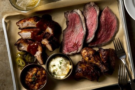 『BROOKLYN CITY GRILL』の「BBQ COMBINATION」